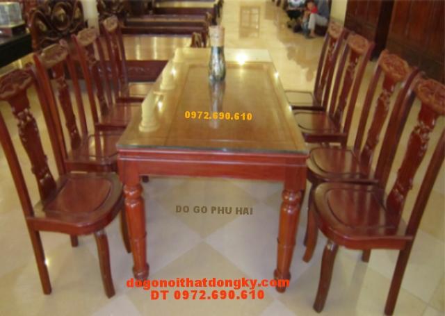 Bộ bàn ghế phòng ăn, Bàn chữ nhật BA36