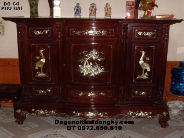 Tủ thờ gỗ gụ Khảm ốc - Đồ gỗ Đồng Kỵ TT11