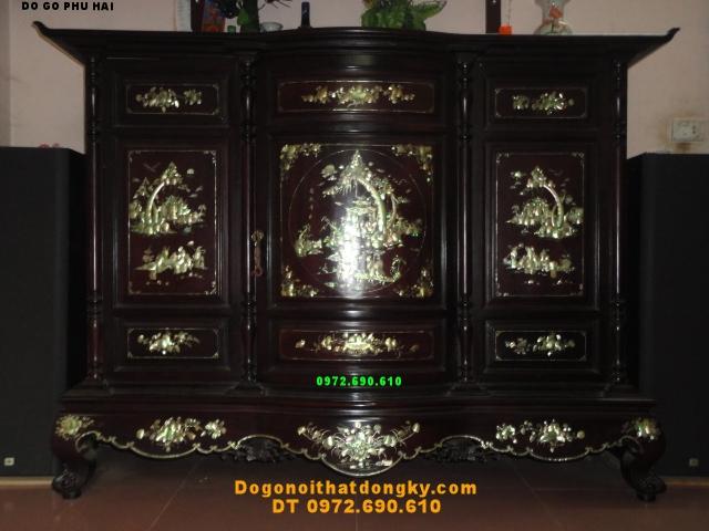 Tủ thờ gỗ gụ Khảm ốc, Đồ gỗ Phú Hải TT11