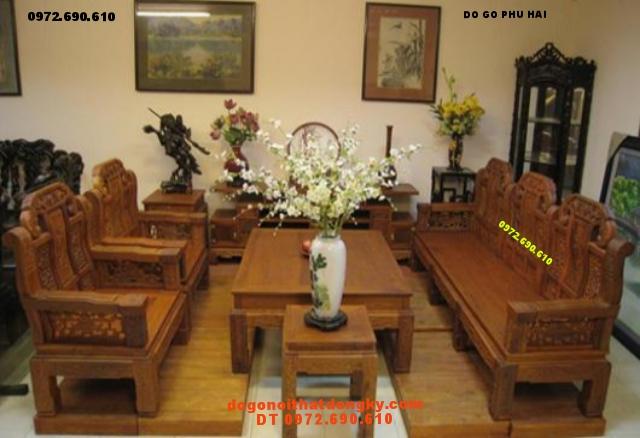 Bộ bàn ghế phòng khách Như ý Voi NY02