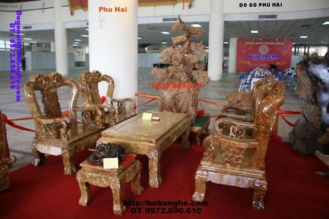 Bộ bàn ghế gỗ ngọc nghiến kiểu Minh Quốc NG11