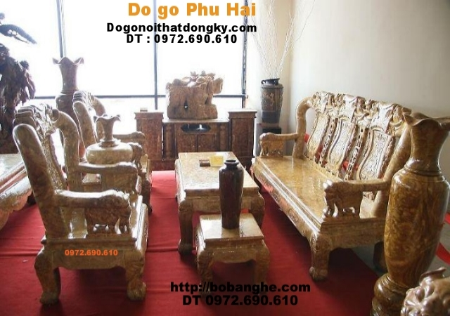 Bộ bàn ghế gỗ nu nghiến Quốc Voi NGQV-01