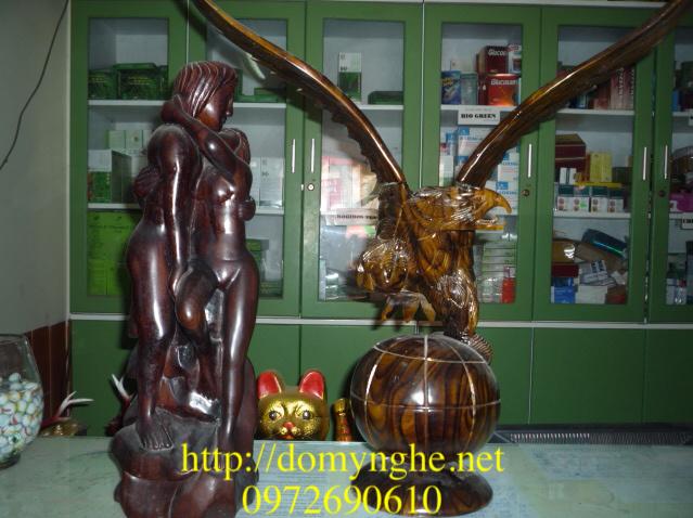Đồ gỗ mỹ nghệ Đại bàng đứng ĐB39