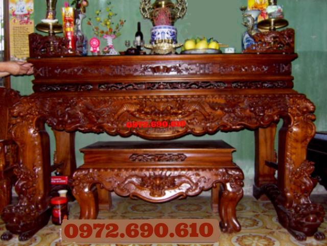 Sập thờ, Án gian tứ linh dogodongky.net.vn ST31