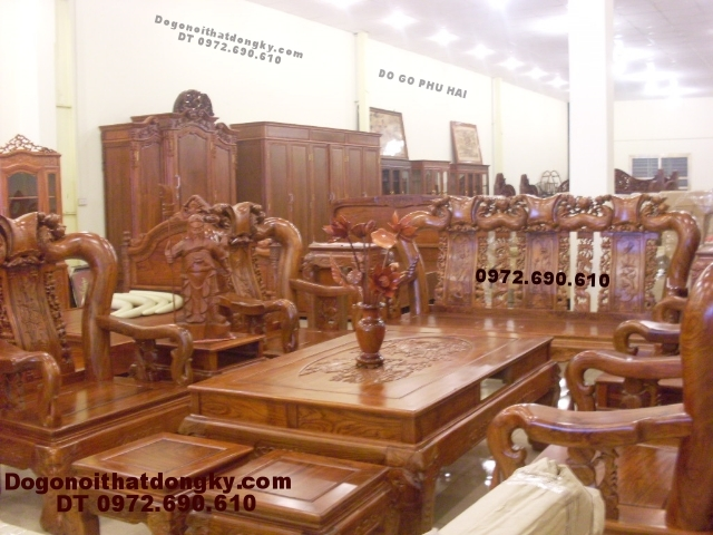 Bộ bàn ghế gỗ đồng kỵ gỗ hương Quốc đào QD72