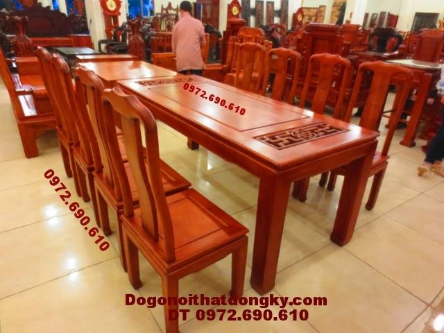 Bộ bàn ghế ăn đẹp kiểu bàn chữ nhật BA44