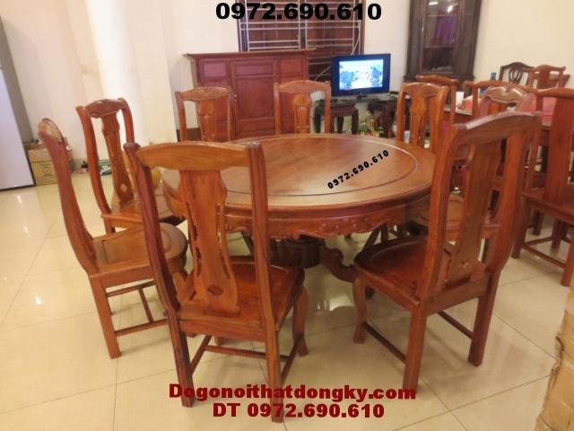 Bàn ghế phòng ăn Kiểu bàn Tròn gỗ đinh hương BA46