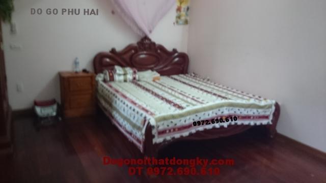 Giường gỗ đẹp Giường ngủ kiểu giường xoài GN34