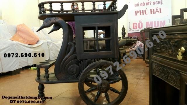 Tủ để rượu - Xe kéo kiểu cổ để bày rượu TR16