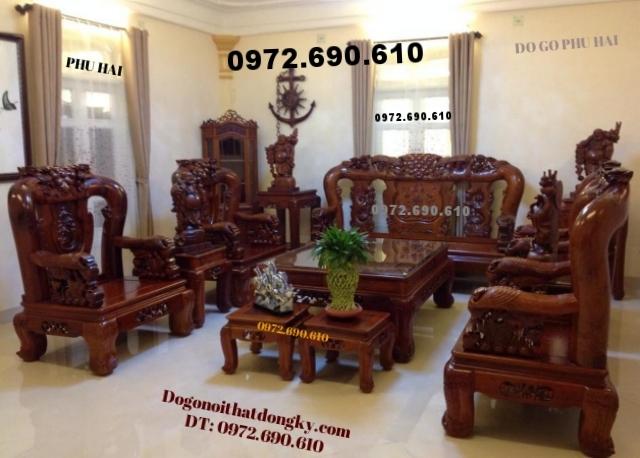 Bộ bàn ghế Hồng trĩ gỗ đinh hương Vai 14 B99