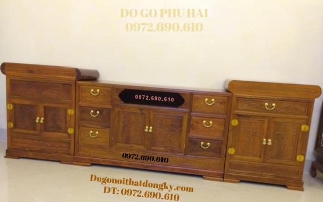 Kệ Tivi đẹp gỗ hương cho ngôi nhà đẹp KTV39