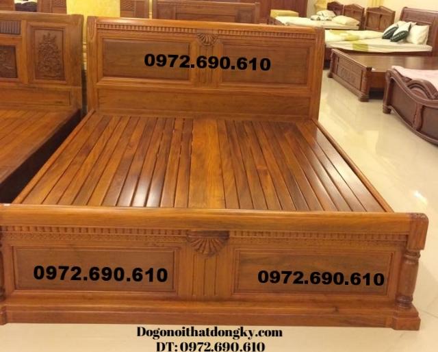 Giường gỗ đẹp, Giường ngủ giá rẻ GN44