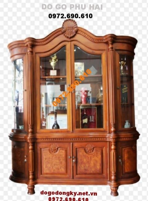 Mẫu Tủ rượu đẹp, Tủ để rượu gỗ đồng kỵ TR19