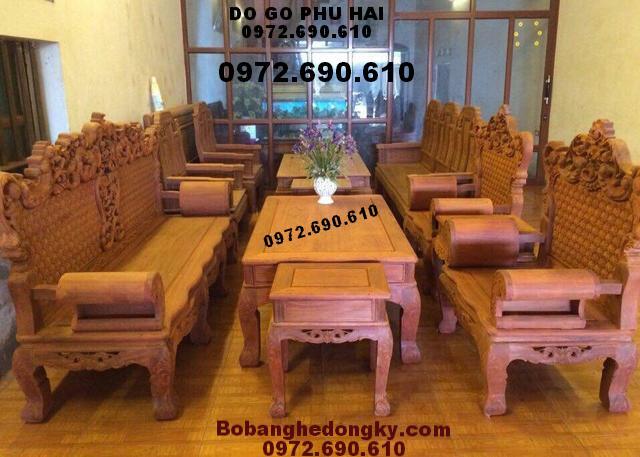 Bộ Bàn Ghế Gỗ Đẹp Kiểu Sofa Hiện Đại B204
