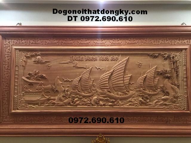 Tranh gỗ phong thủy treo tường,Thuận Buồm Xuôi Gió T43