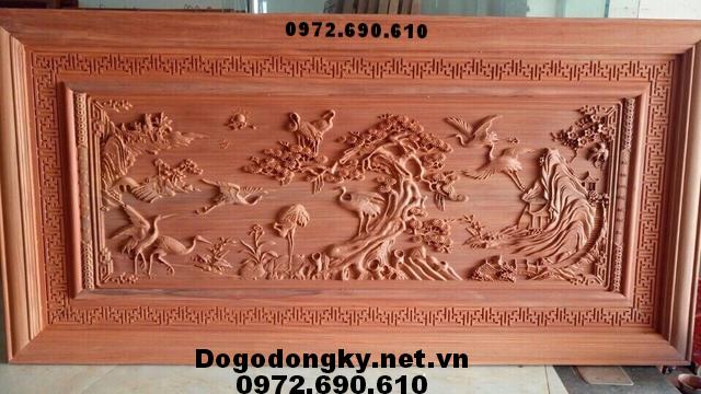 Tranh điêu khắc gỗ, Tranh phong cảnh Tích Đồng Quê T45