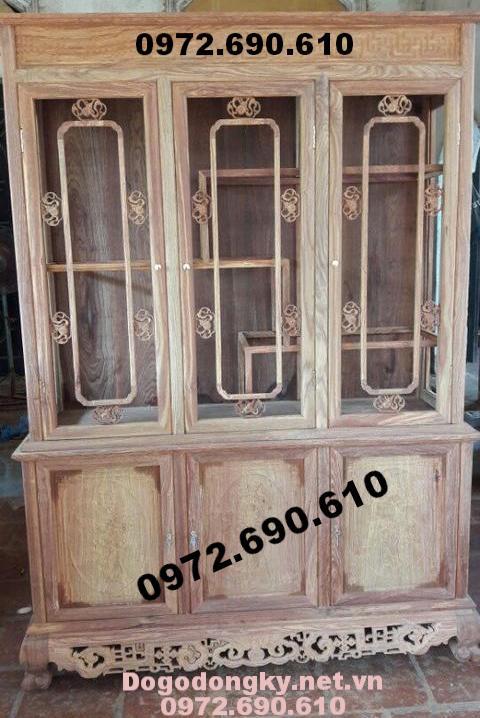 Tủ để rượu, Tủ bày rượu gỗ gụ mật TR20