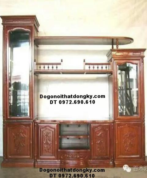 Tủ Bày Đồ Phòng Khách, Tủ Kệ Tivi Mẫu Đẹp KTV85