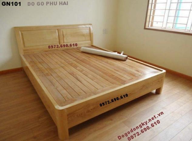 Giường Gỗ Đẹp, Giường Ngủ Kiểu Hiện Đại GN.101 (Nơi sản xuất các mẫu Giường gỗ đẹp, Giuong ngu mau dep , Giuong ngu hien dai, Giuong go , giuong ngu gỗ gõ đỏ, Giuong go huong, Giuong ngu go gu )