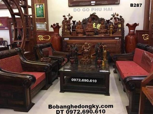 Bộ Bàn Ghế Gỗ Mẫu Hiện Đại Bobanghedep.com B287