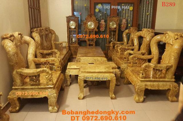 Bộ Bàn Ghế Gỗ Nu Nghiến Đẹp Hiệu Đồ Gỗ Phú Hải B289