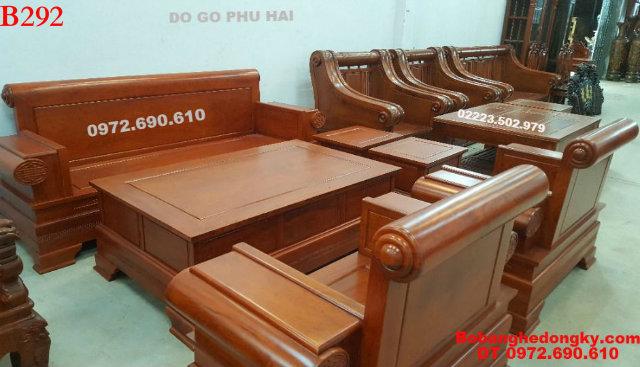 8 Mẫu Bộ Bàn Ghế Đẹp gỗ hương kiểu hiện đại B292