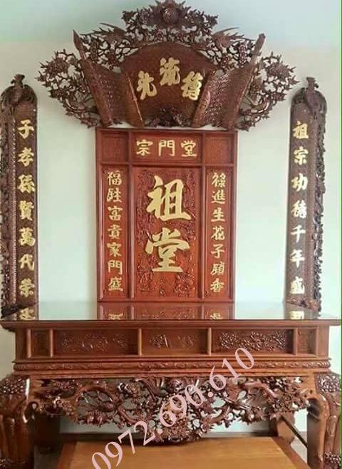 Bo cau doi cuon thu,Bộ Câu Đối Cuốn Thư Kiểu Song Long Chầu Nguyệt