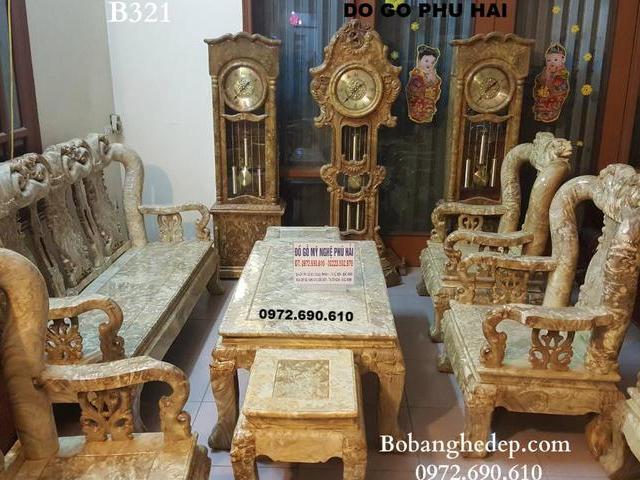 Bộ Bàn Ghế Gỗ Nu Nghiến, Hàng Hiếm Đồ Gỗ Phú Hải B321