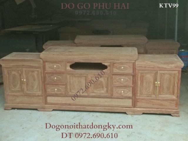 Kệ Tivi gỗ hương mẫu kiện đại, Tủ Để Ti vi Đẹp KTV99