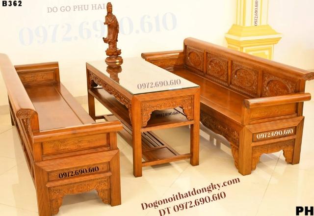 Nơi Bán Bộ Ghế Tràng Kỷ ( Trường kỷ) Mẫu Đẹp Giá Rẻ B362
