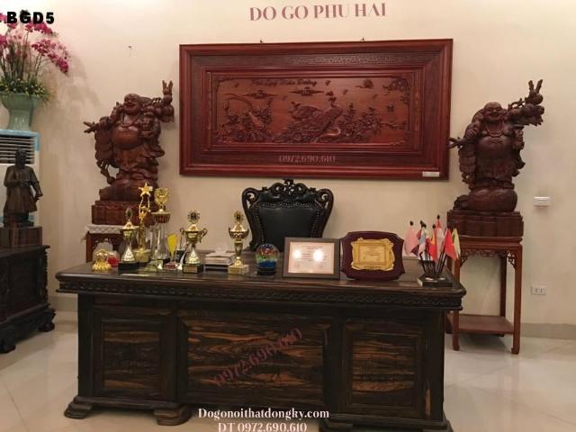 Ban giam doc,BÀN GIÁM ĐỐC, Bàn Ghế Giám Đốc Gỗ Mun Cho Sếp Tổng