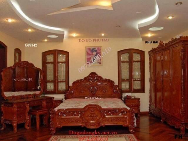 MẪU GIƯỜNG NGỦ ĐẸP cho phòng ngủ nhà biệt thự GN142
