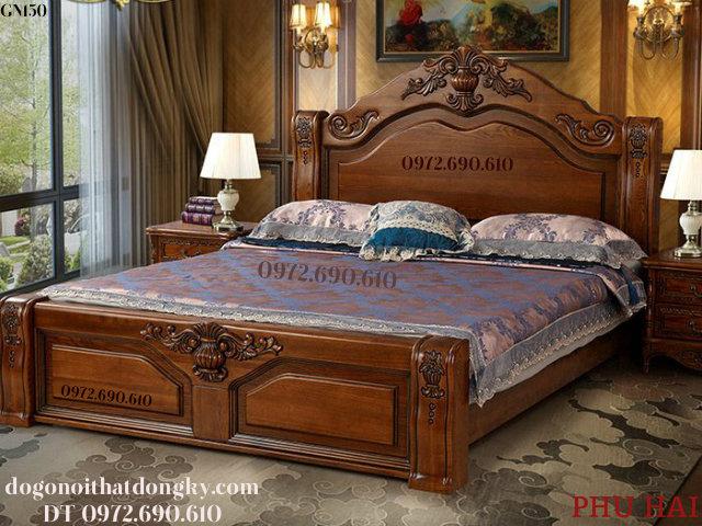 Mẫu Giường Gỗ Đẹp, Giường Ngủ Phong Cách Pháp GN150