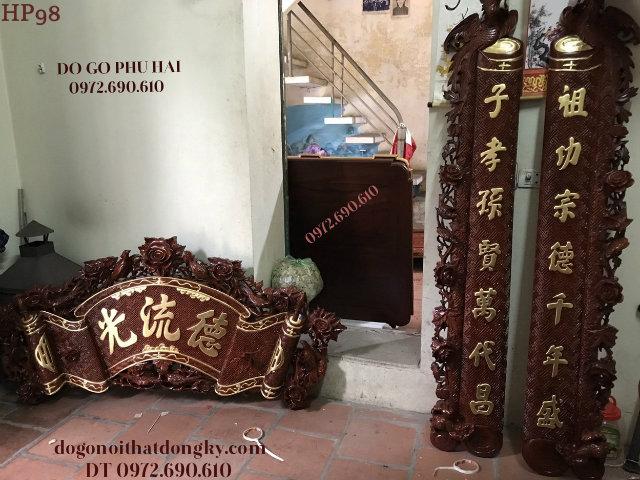 Nơi Bán Bộ Cuốn Thư Câu Đối Đẹp Hiệu Đồ Gỗ Phú Hải HP98