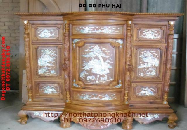 Tủ thờ gỗ cẩm lai Khảm ốc TT10