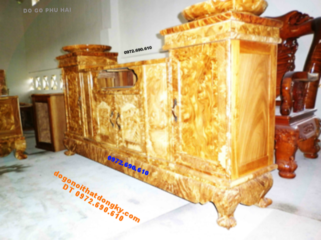 Nơi sản xuất Kệ ti vi gỗ nu nghiến TVN06