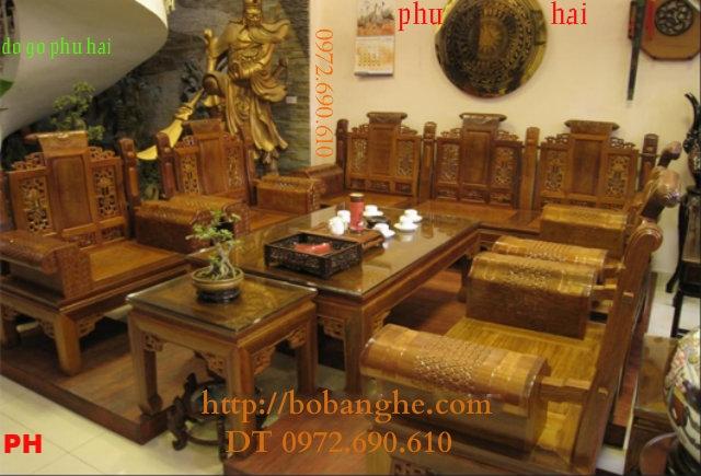 Bàn ghế gỗ hương ÂU Á Tay hộp AU05