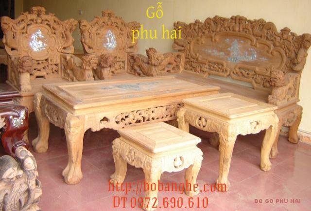 Đồ gỗ cao cấp Bàn ghế gỗ hương Song Nghê SN02