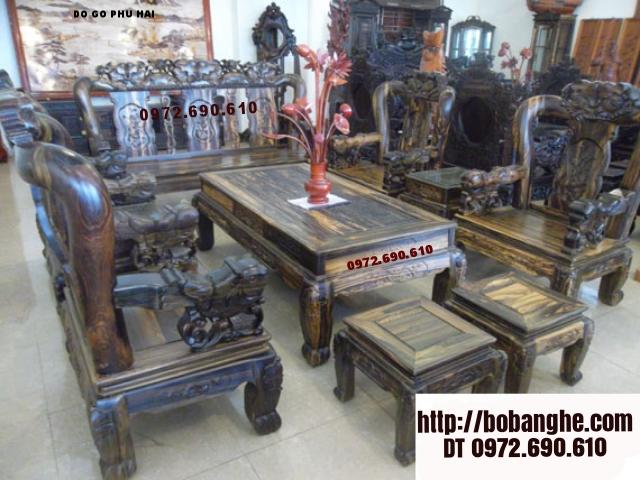 Bàn ghế phòng khác gỗ mun Minh Quốc BM06