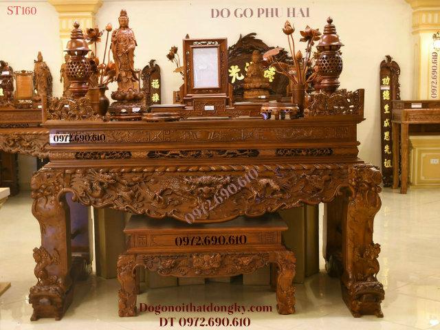 Nơi Bán Bàn Thờ Gia Tiên Đẹp Gỗ GỤ, MÍT, HƯƠNG Tại Hà Nội ST160