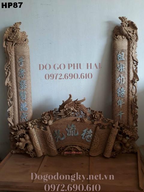 Bán Bộ Cuốn Thư Câu Đối Mẫu Phượng Khảm Trai Tại Hà Nội HP87