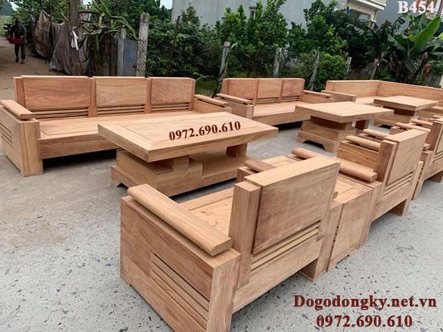 Bộ Bàn Ghê gỗ Đẹp Kiểu Hiện Đại Gia Rẻ B454