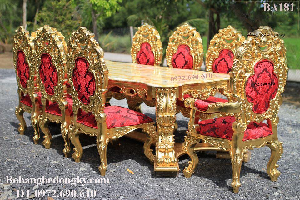 SỞ THỊ Bộ Bàn Ăn Đắt Nhất Việt Nam Mẫu Hoàng Gia Dát Vàng BA181