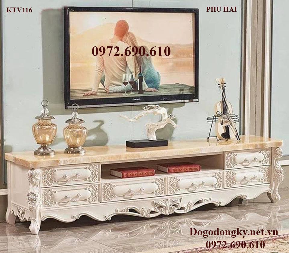 Kệ Để Ti Vi Mẫu Tân Cổ Điển Cho Phòng Khách Vip KTV116