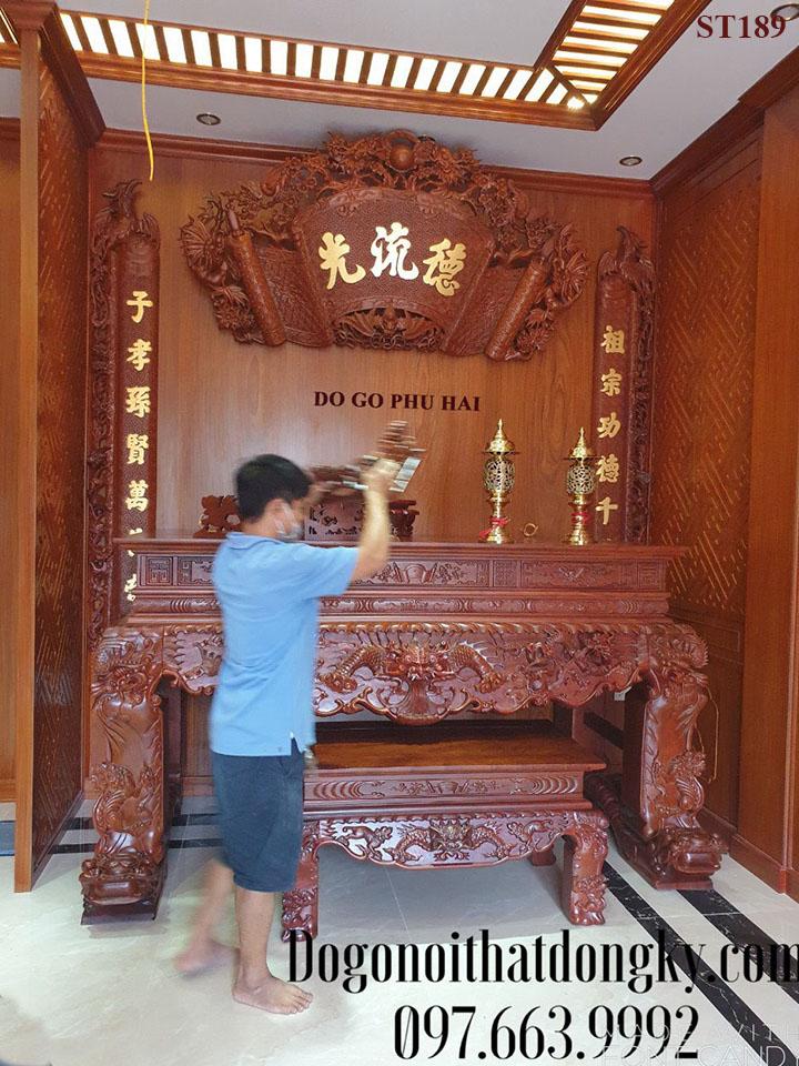 【CỬA HÀNG】Bàn Thờ Tứ Linh Đẹp – Đồ Thờ Phú Hải ST189