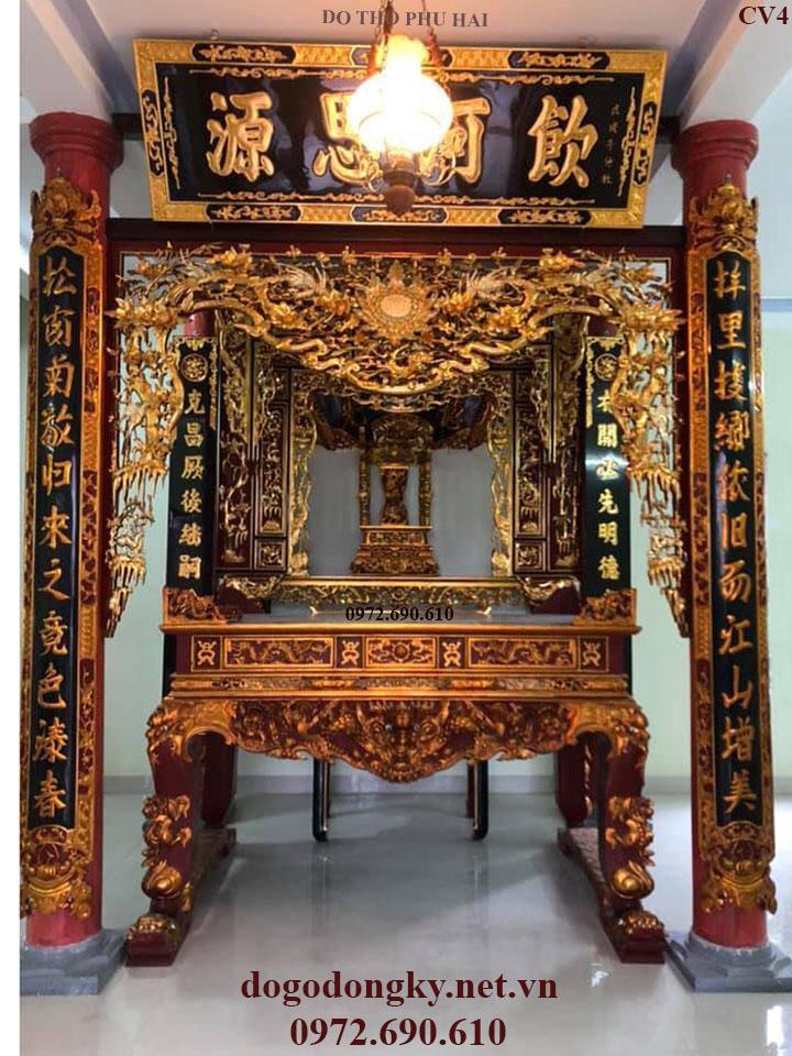 Cửa Võng Nhà Thờ | Cửa Võng Sơn Son Thếp Vàng Cv4