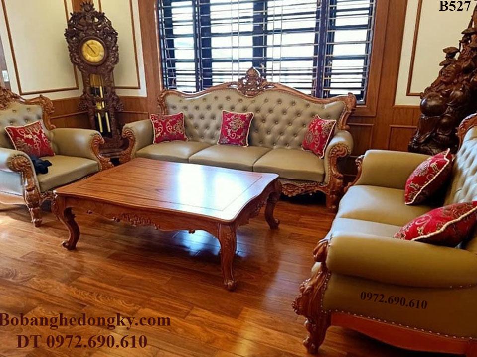 Bộ Bàn Ghế Sofa Phòng Khách Đẹp Giá Rẻ Nhất Cho Mọi Nhà B527