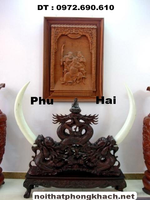 Đồ Gỗ Đồng Kỵ ,Giá cắm ngà voi Gỗ Gụ GN08