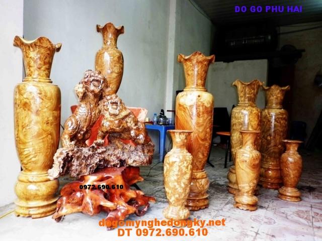 Đôi Lộc bình Lôc bình gỗ ngoc nghiến LB27