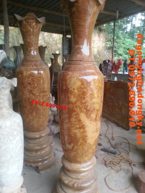 Đôi lọ lộc bình Đồ gỗ mỹ nghệ đong ky LBN32